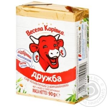 Сыр Веселая Коровка Дружба плавленный 50% 90г - купить, цены на Ашан - фото 4