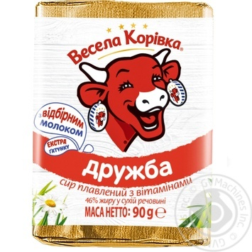 Сир Весела Корівка Дружба плавлений 50% 90г - купити, ціни на Ашан - фото 1