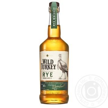 Віскі Wild Turkey Rye бурбон 0,7л - купити, ціни на МегаМаркет - фото 1