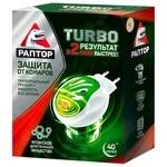Комплект Раптор Turbo прилад + рідина від комарів без запаху 40 ночей