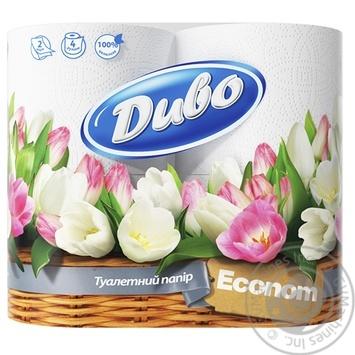 Туалетная бумага Диво Эконом белая двухслойная 4шт Украина - купить, цены на МегаМаркет - фото 1
