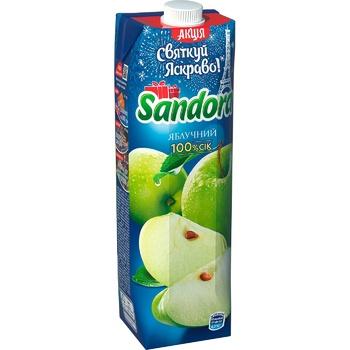 Сок Sandora яблочный 950мл - купить, цены на Метро - фото 1