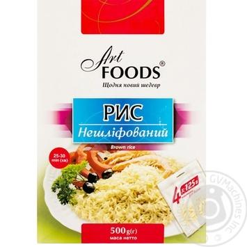 Рис нешлифованный Art Foods 4*125г - купить, цены на Novus - фото 1
