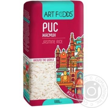 Рис Art Foods Жасмін довгозернистий шліфований 1кг - купити, ціни на МегаМаркет - фото 1