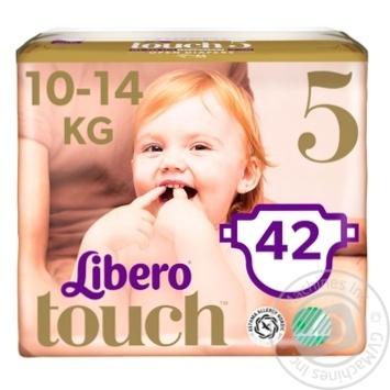 Подгузник  Libero Touch для детей 10-14кг 42шт. - купить, цены на Novus - фото 1