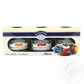 Джем St. Dalfour Міні асорті з 3 смаків 3шт*28г - купити, ціни на CітіМаркет - фото 1