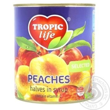 Персик Tropic life половинки в сиропі 850мл - купити, ціни на Novus - фото 2
