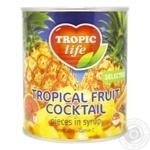 Коктейль тропический фруктовый Тропик лайф в сиропе 820г