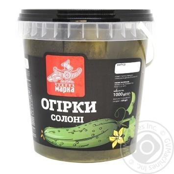 Огурцы Замечательная Марка соленые 600г - купить, цены на Фуршет - фото 2