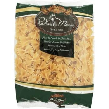 Макаронные изделия Pasta Maria Бабочки из твердых сортов пшеницы 400г - купить, цены на СитиМаркет - фото 1