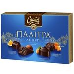 Конфеты СВІТОЧ® Палитра Ассорти в черном шоколаде 200г