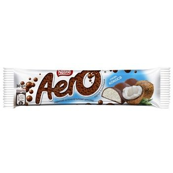 NESTLÉ® AERO® Coconut taste aerated milk and white chocolate bar 30g - buy, prices for Auchan - photo 1