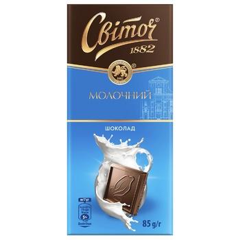 Шоколад молочный СВІТОЧ® 85г
