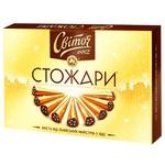 Цукерки СВІТОЧ® Стожари класичні в темному шоколаді 232г