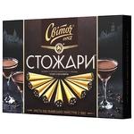Конфеты СВІТОЧ® Стожары в черном шоколаде со вкусом кофе и коньяком 232г