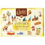 Набор конфет СВІТОЧ® Львовские Дефиляды в черном шоколаде 205г