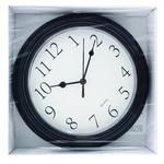 Часы Ашан пластиковые черные 22см