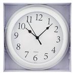 Часы Ашан пластиковые белые 22см