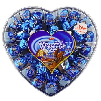 Цукерки Elvan Truffle Серце з кокосом 280г