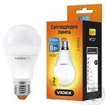 Videx LED lamp A60 8W E27 3000K