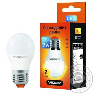 Лампа светодиодная Videx LED G45E 7W E27 4100K - купить, цены на Метро - фото 1