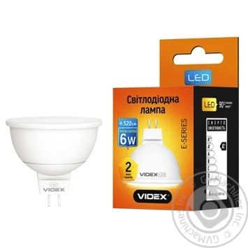 Лампа LED Videx E MR16 жовта 6 Вт GU5.3