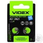 Батарейка Videx щелочная AG1 LR621 2шт