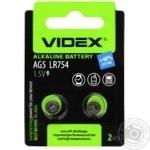 Батарейка Videx щелочная AG5 LR754 2шт