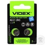 Videx Alkaline Battery AG12 LR43 2pc