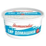 Сир кисломолочний Яготинський Домашній 5% 370г
