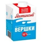 Yagotynske Drinking Ultrapasteriuzed Cream 10% 500g
