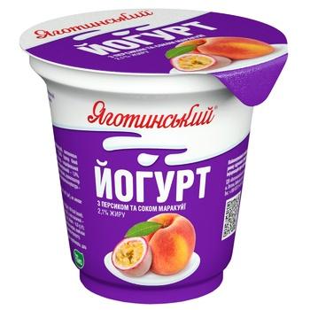 Yahotynskyi Peach-Passion Fruit Juice Flavored Yogurt 2,1% 280g - buy, prices for CityMarket - photo 1