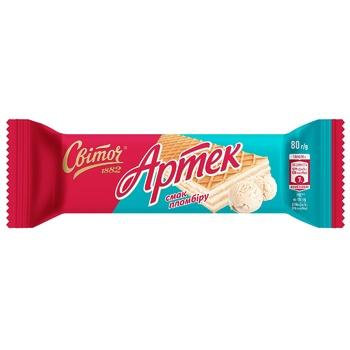 SVITOCH® Artek Plombir wafers with ice-cream taste 80g