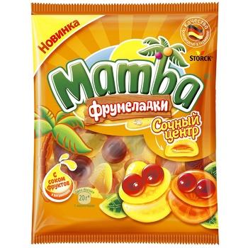 Конфеты жевательные Mamba Фрумеладкы Сочный центр 70г - купить, цены на СитиМаркет - фото 1