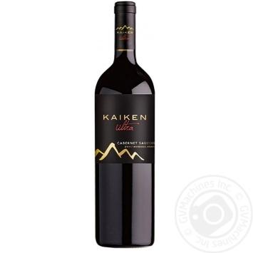 Вино Kaiken ultra Cabernet sauvignon красное сухое 14% 0,75л