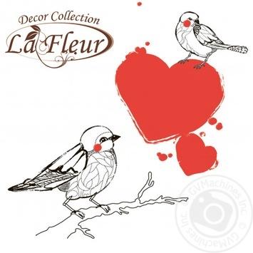 Салфетки La Fleur Влюбленные птички двухслойные 33х33 20шт