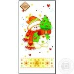 Салфетки Luxy Mini Снеговик и елка 33х33см 3 слоя 10шт