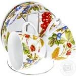 Набор чайный Обитель Лесные Ягоды на металлической подставке 4 предмета OUK24-198-046