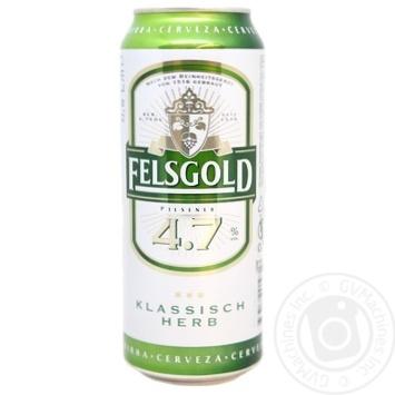 Пиво Felsgold светлое фильтрованное пастеризованное 4,7% 0,5л