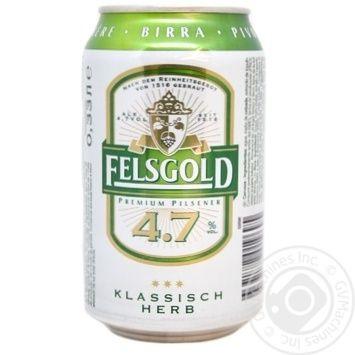 Felsgold Premium Pilsener Beer light filter pasteurized 4,7% 0,33l