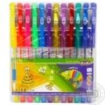 Набір ручок Zibi Glitter гелеві 12 кольорів 12шт