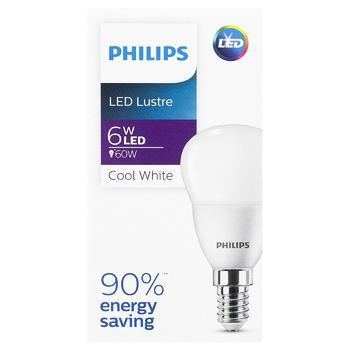 Лампа Philips LED Р45 6Вт E14 - купити, ціни на CітіМаркет - фото 1