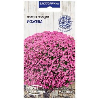 Семена Семена Украины Обриета Гибридная Розовая 0,05г