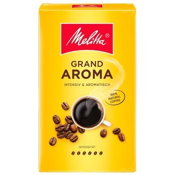 Кофе Melitta Grand Aroma молотый жареный 250г - купить, цены на Novus - фото 1