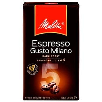 Кофе Melitta Espresso Gusto Milano Arabica молотый жареный 250г
