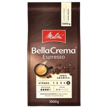 Melitta Bella Crema Espresso Roasted Coffee Beans 1kg