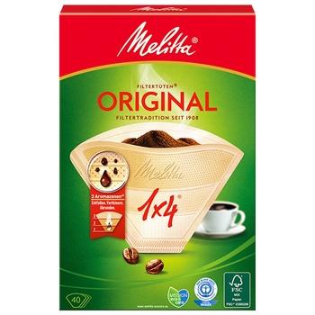 Бумажные фильтры для кофе Melitta® Original 1x4 40 шт