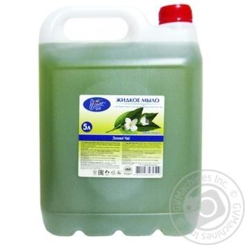 Мило рідке Флауер шоп зелений чай 5л - купить, цены на Novus - фото 1