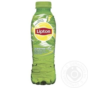 Холодный зеленый чай Lipton 0,5л - купить, цены на Ашан - фото 2