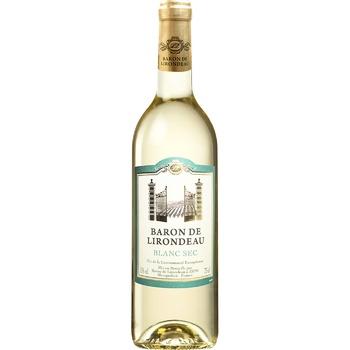 Вино Baron de Lirodeau белое сухое 11% 0,75л